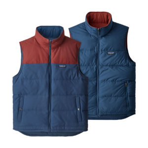 Patagonia Reversible Bivy Down Vest Stone Blue