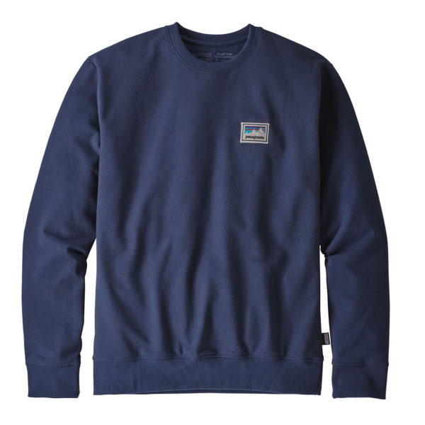 Patagonia Shop Sticker Patch Uprisal Crew Sweat Classic Navy
