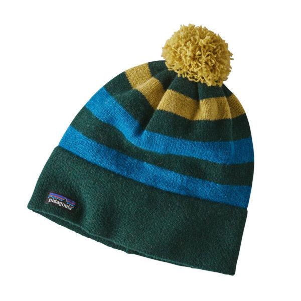 Patagonia Vintage Town Beanie Hat Block Stripe Micro Green