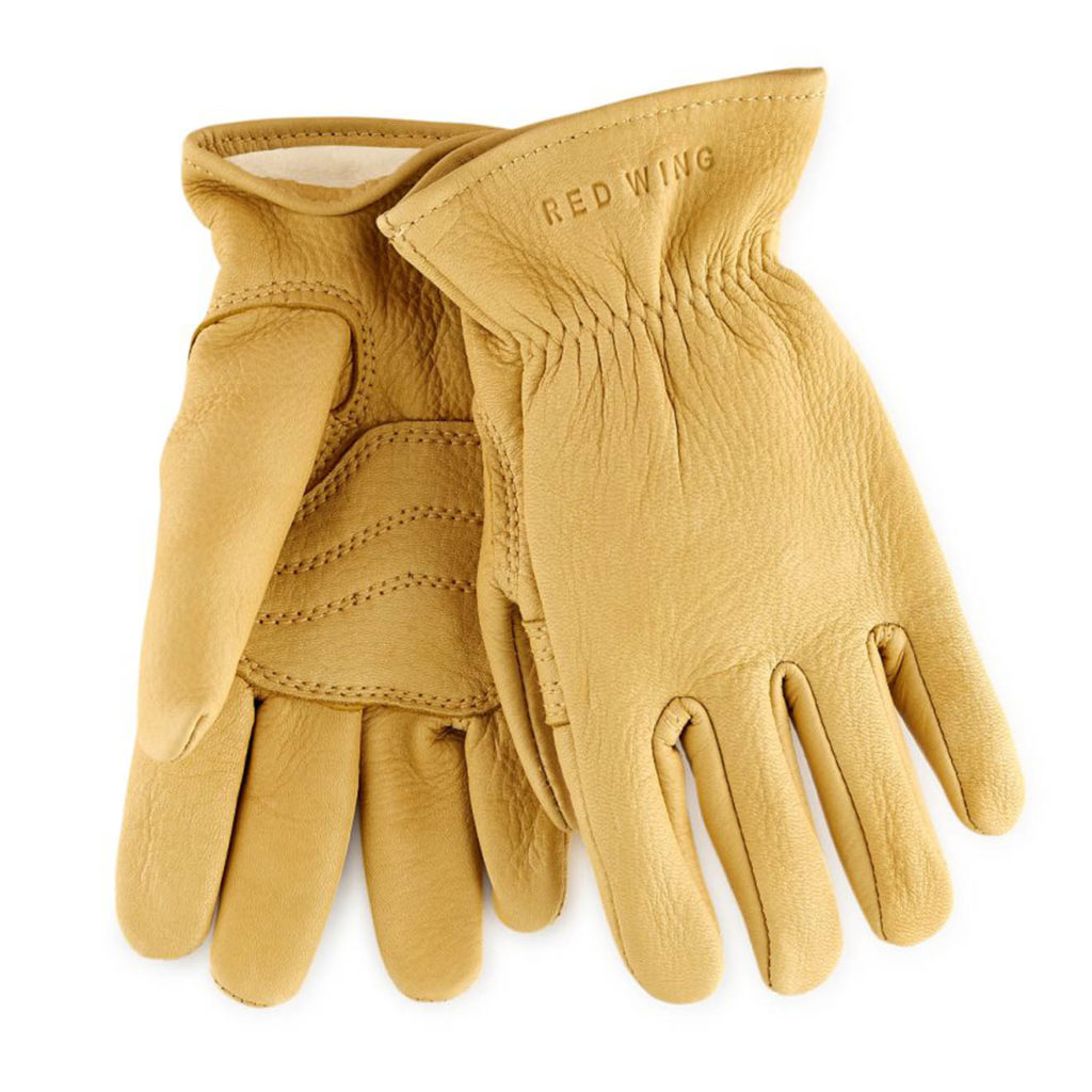 Red Wing Deer Skin Leather Gloves Yellow