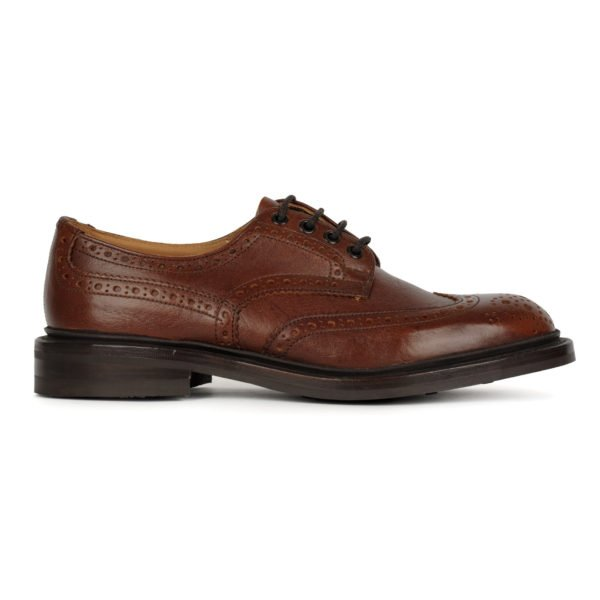 Trickers Bourton Brogue Shoe Derby Sole Caramel Kudu