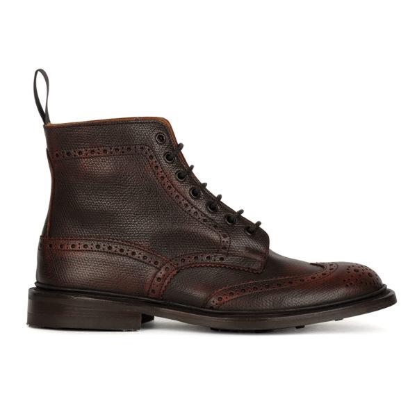 Trickers Stow Brogue Boot Victorian Elan Veliero Burgandy