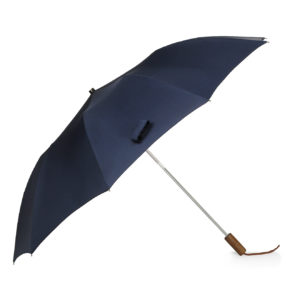 Fox Umbrellas Tel 2 Brown Maple Straight Navy