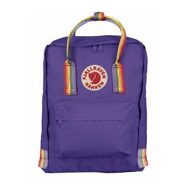 Fjallraven Kanken Rainbow Classic Purple Rainbow Pattern