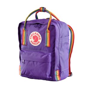 Fjallraven Kanken Rainbow Mini Purple Rainbow Pattern