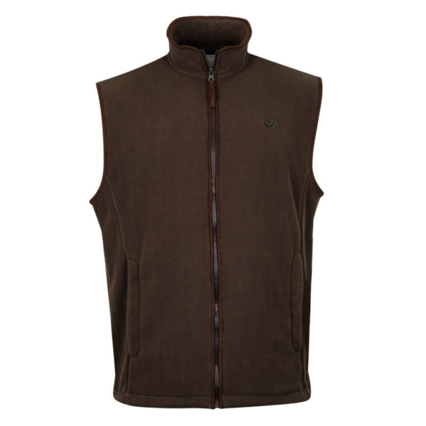 Macfarlaine Fleece Gilet Brown