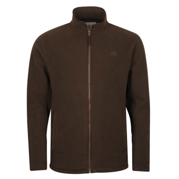 Macfarlaine Full Zip Fleece Brown