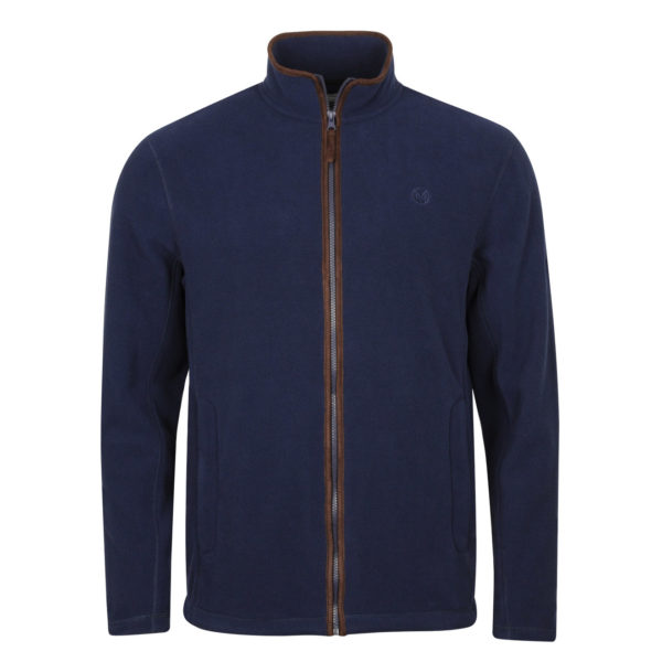 Macfarlaine Full Zip Fleece Navy