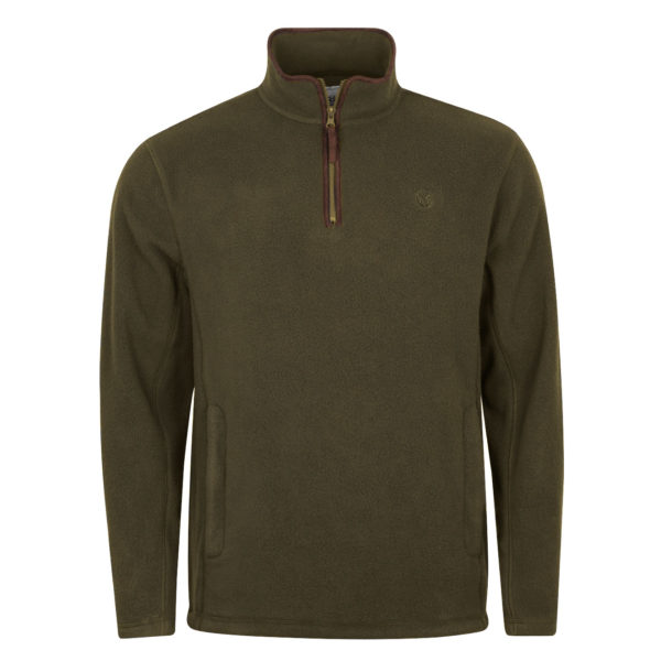 Macfarlaine Half Zip Fleece Dark Olive