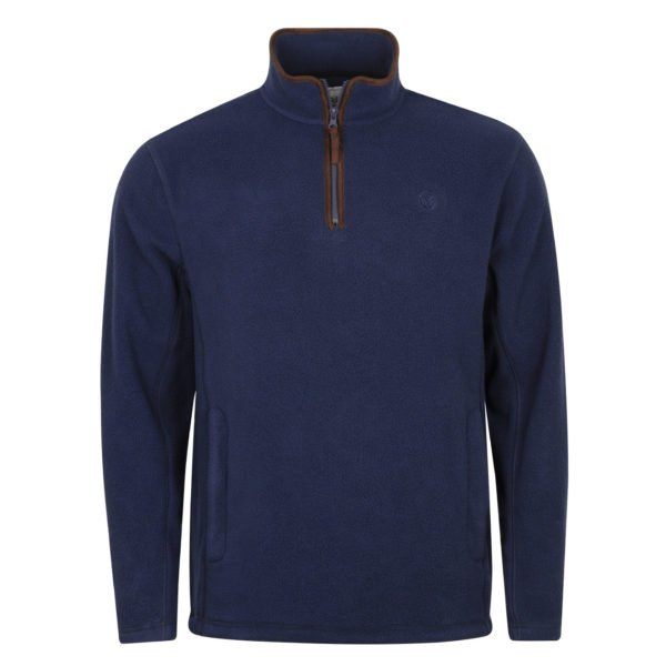 Macfarlaine Half Zip Fleece Navy