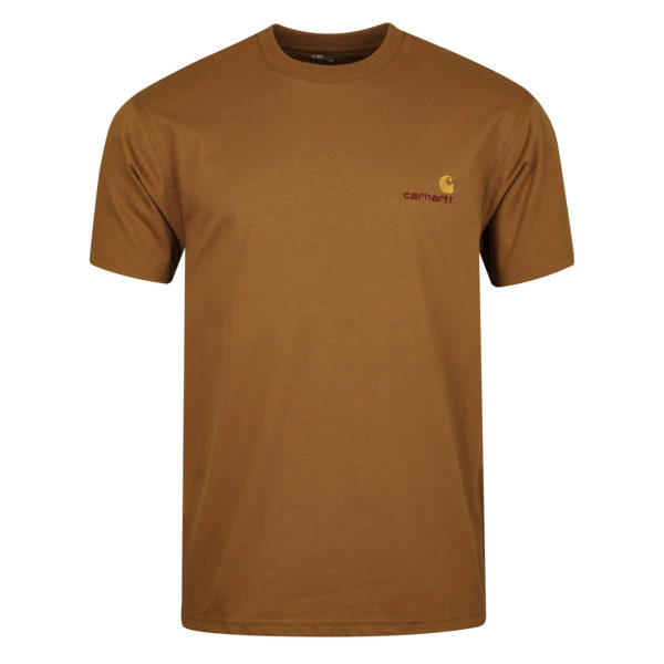 Carhartt American Script T-Shirt Hamilton Brown