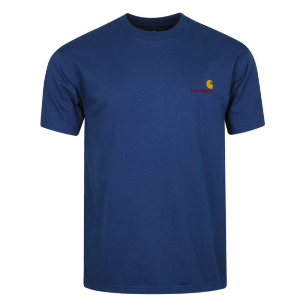 Carhartt American Script T-Shirt Metro Blue