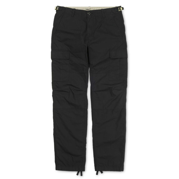 Carhartt Aviation Pant Reg Leg Black Rinsed