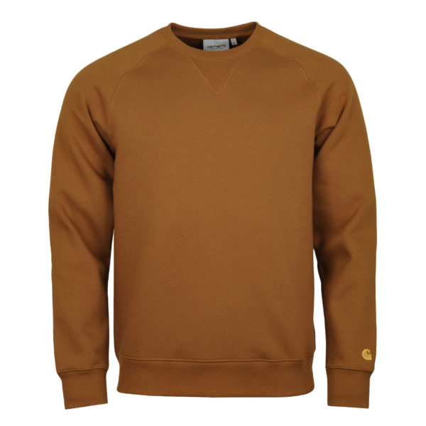 Carhartt Chase Sweat Hamilotn Brown Gold