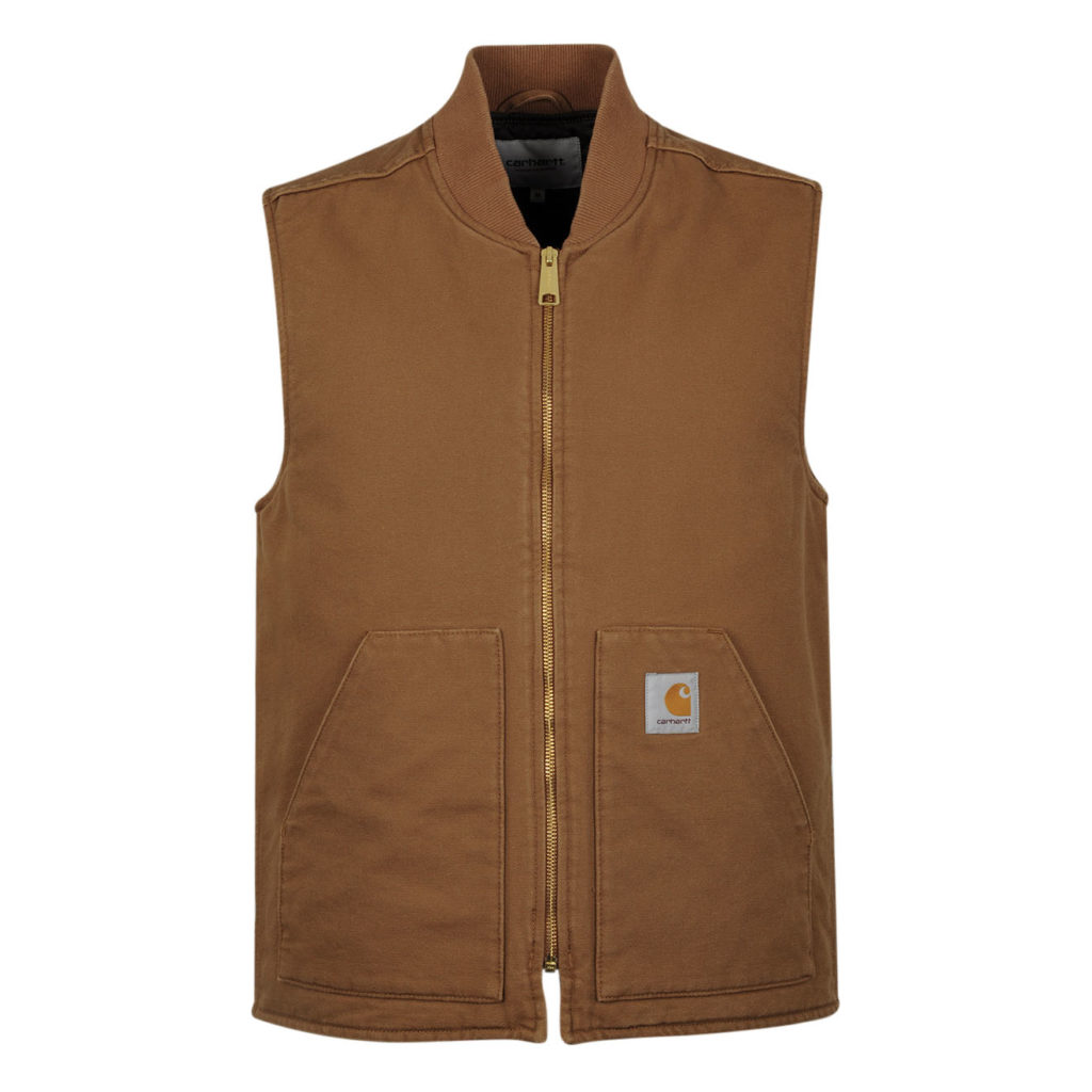 Carhartt Vest Hamilton Brown Rinsed