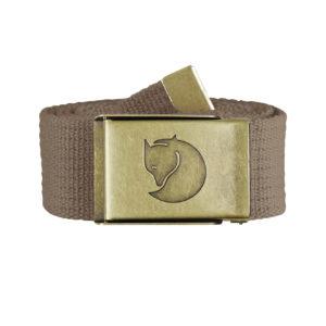 Fjallraven Canvas Brass Belt 4cm Dark Sand