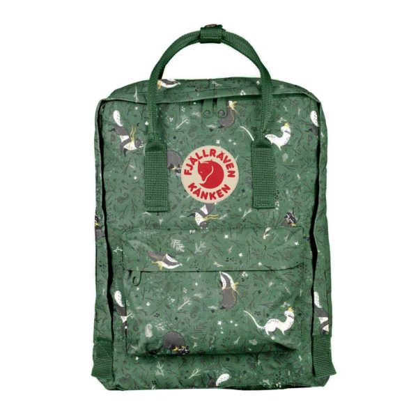 Fjallraven Kanken Art Classic Backpack Green Fable