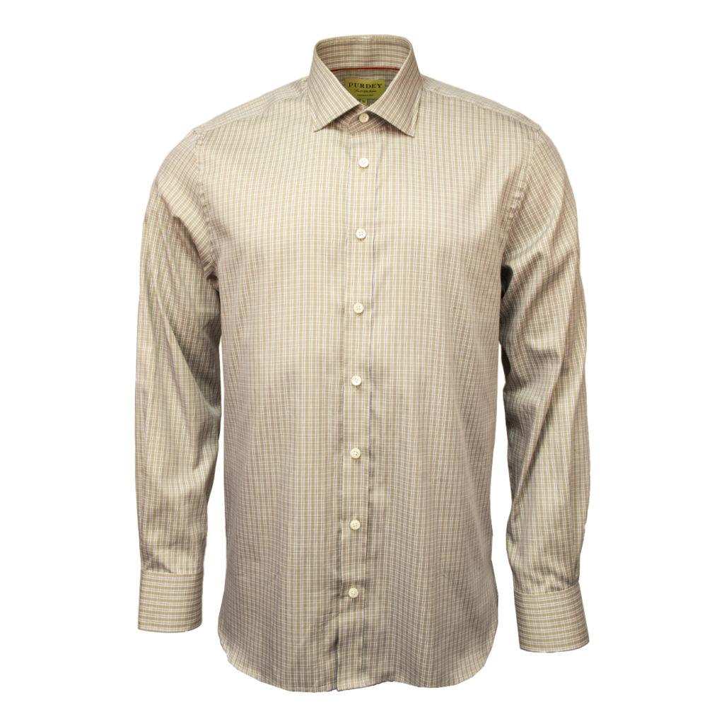 James Purdey Double Check Shirt Beige