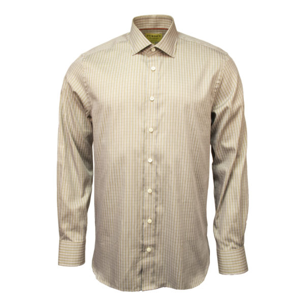 James Purdey Double Check Shirt Beige