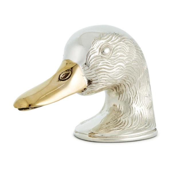 James Purdey Silver Plate Duck Head Bottle Opener Silver