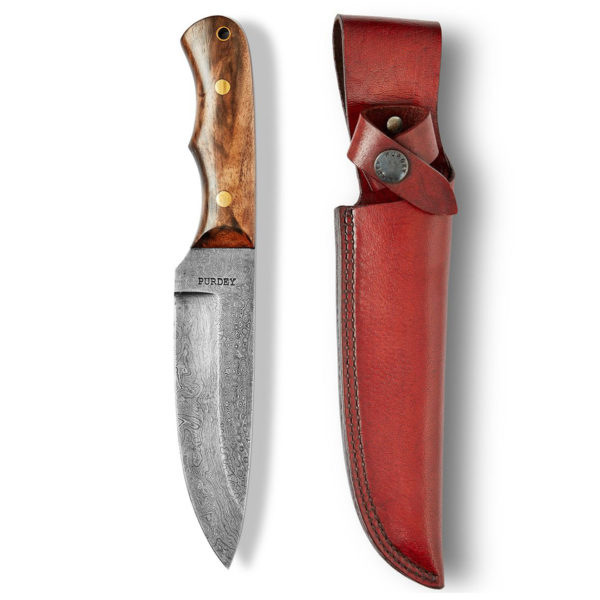 James Purdey Wide Blade Hunting Knife Lanyard Hole Walnut