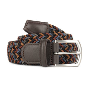 Andersons-B0667-Woven-Textile-Belt-Black-Blue-and-Burgandy