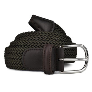 Andersons-B0667-Woven-Textile-Belt-Olive-Green