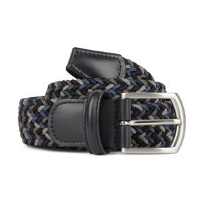 Andersons Woven Textile Belt Black Grey Blue