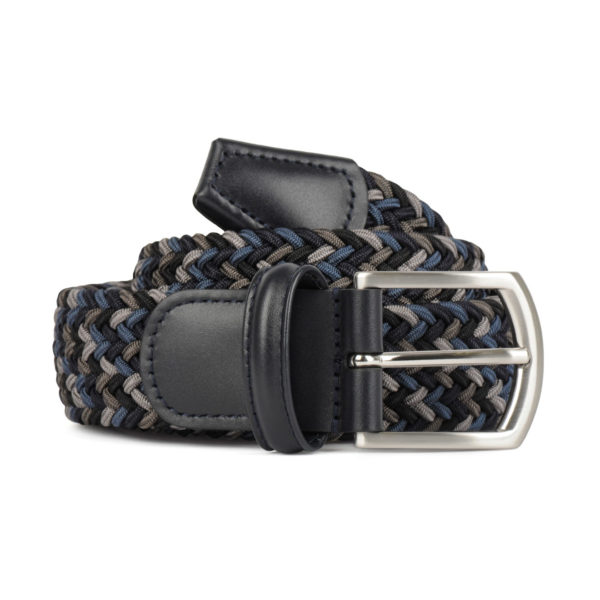 Andersons Woven Textile Belt Black Grey Blue