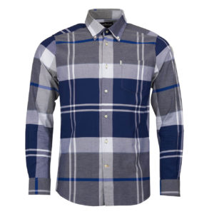 Barbour Brothwell Tailored Fit Shirt Grey Marl