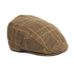 Barbour Crieff Cap Olive Mixed Herringbone