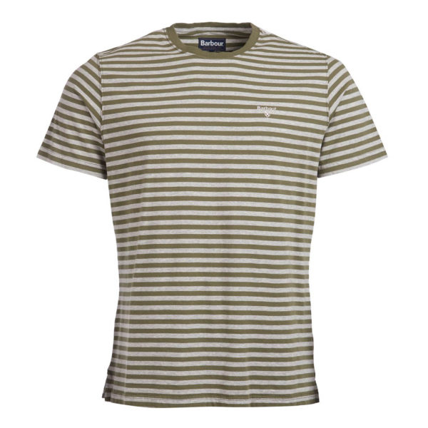 Barbour Delamere Stripe T-Shirt Burnt Olive