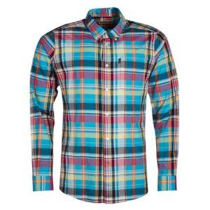 Barbour Madras 2 Tailored Shirt Aqua