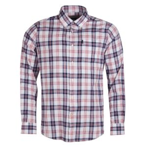 Barbour Oxford Check 3 Tailored LS Shirt Rich Red