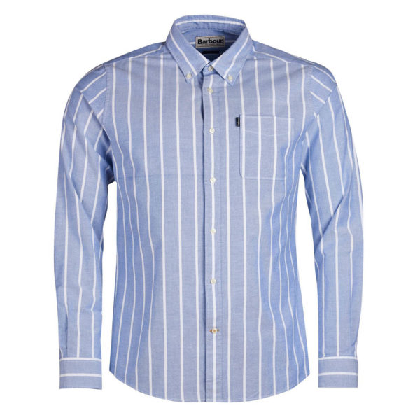 Barbour Oxford Stripe 1 Tailored Fit Shirt Blue