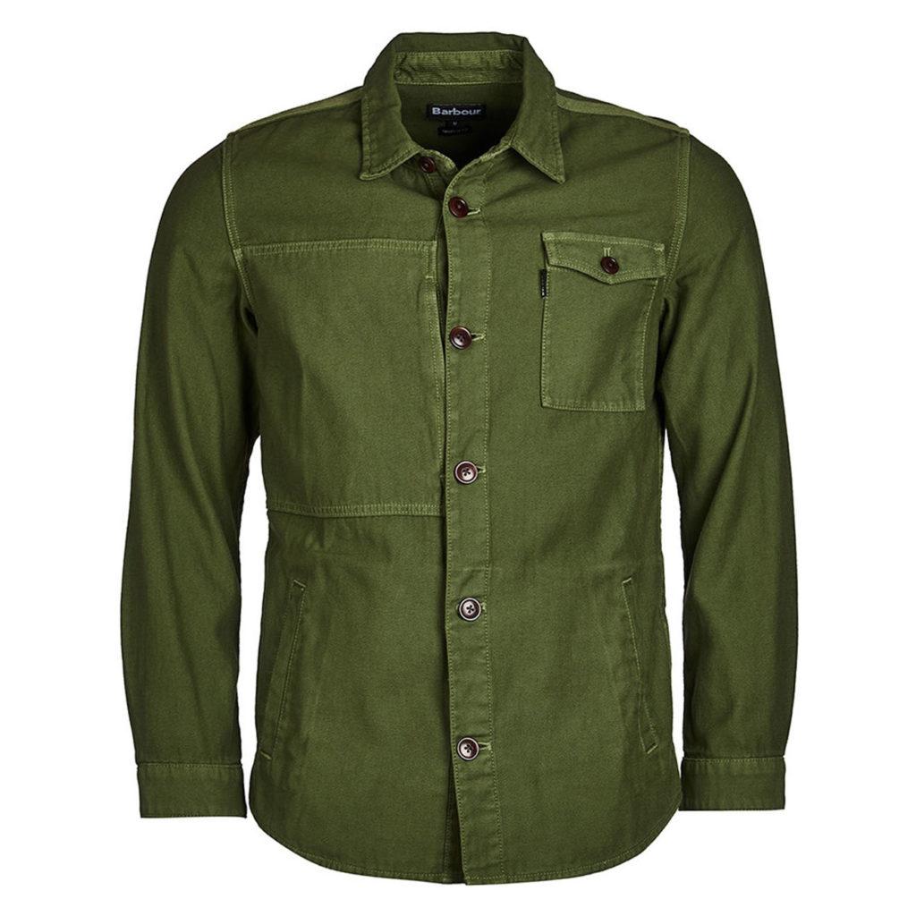 Barbour Seaton Overshirt Burnt Olive