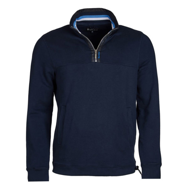 Barbour Seaward Half Zip Sweater Navy