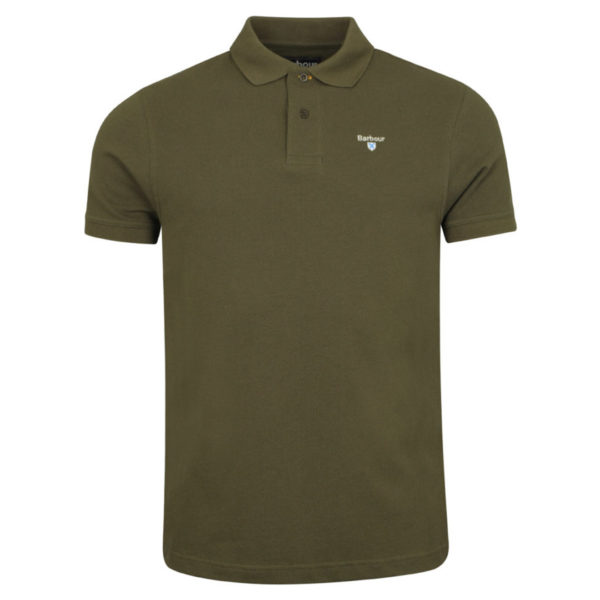 Barbour Sports Polo Dark Olive