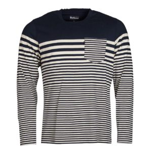 Barbour Triton Striped Long Sleeve Top Navy