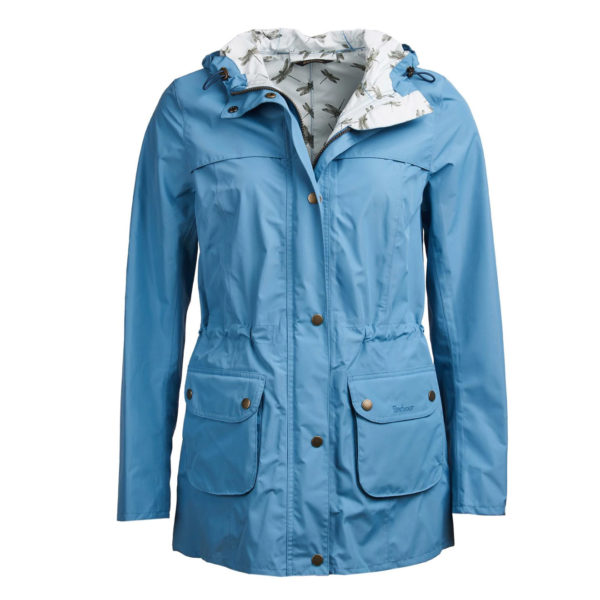 Barbour Womens Aire Waterproof Breathable Jacket Blue Heaven