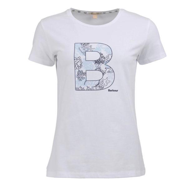 Barbour Womens Backshore T-Shirt White