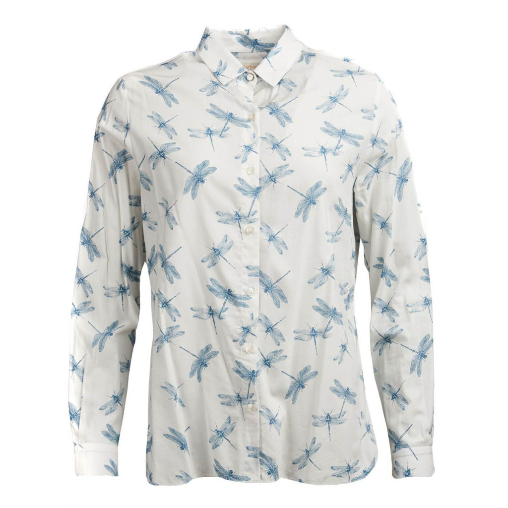 Barbour Womens Bowfell Shirt White Dragonfly