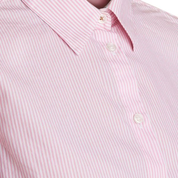 Barbour Womens Breedon Shirt Striped Pink and White