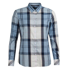 Barbour Womens Causeway Shirt Fade Blue Tartan