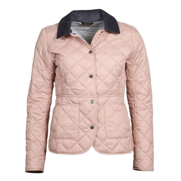 Barbour Womens Deveron Quilted Jacket Pale Pink White