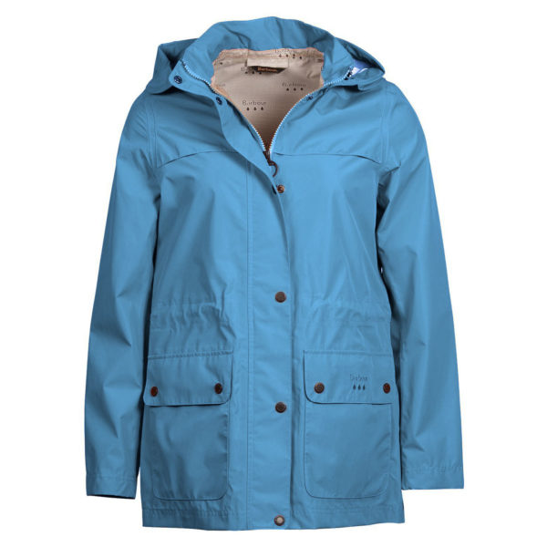 Barbour Womens Drizzel Waterproof Breathable Jacket Blue Heaven / Navy