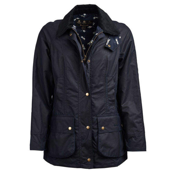 Barbour Womens Monteviot Waxed Cotton Jacket Royal Navy Dragonfly