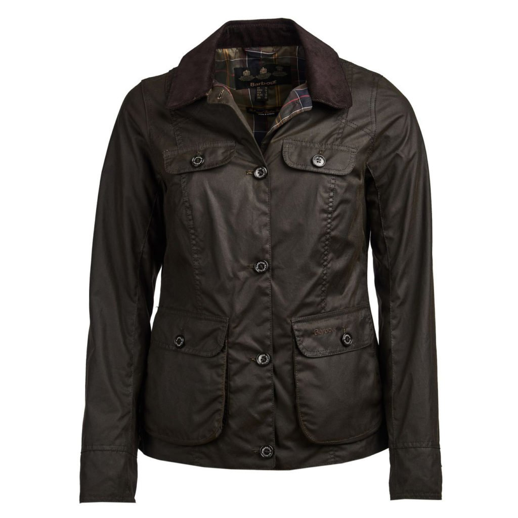 Barbour Womens Nidd Waxed Cotton Jacket Olive