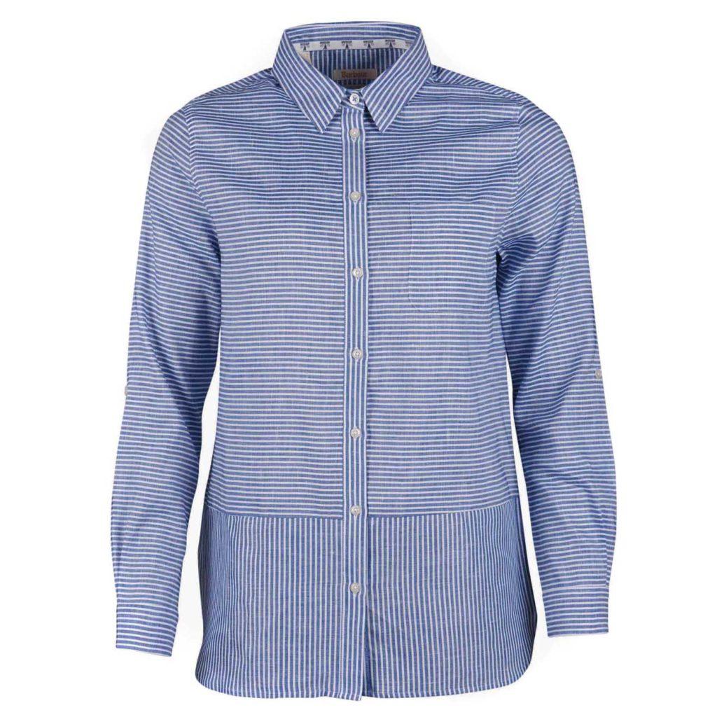 Barbour Womens Seaward Shirt Breeze Blue