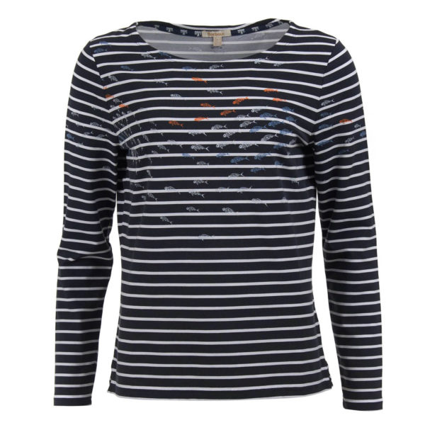 Barbour Womens Seaward Top Navy White